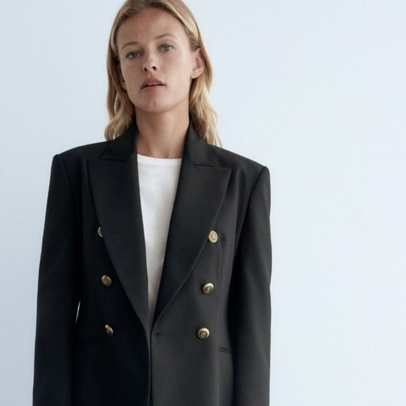 Zara Tailored Double Breasted Blazer
